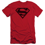 Superman - Red & Black Shield (slim fit) Shirt