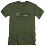 Batman - Distressed Camo Shield (slim fit) T-shirts