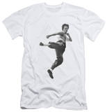 Bruce Lee - Flying Kick (slim fit) Shirt