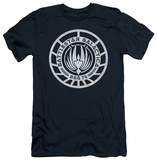 Battlestar Galactica - Scratched BSG Logo (slim fit) Shirts