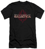 Battlestar Galactica - Logo With Phoenix (slim fit) T-shirts