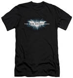 Dark Knight Rises - Cracked Bat Logo (slim fit) T-shirts
