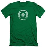 Green Lantern - Distressed Lantern Logo (slim fit) T-shirts