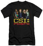 CSI Miami - The Cast In Black (slim fit) T-Shirt