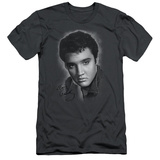 Elvis Presley - Grey Portrait (slim fit) T-shirts