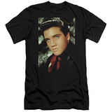 Elvis Presley - Red Scarf (slim fit) T-Shirt