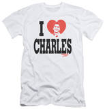 Charles In Charge - I Heart Charles (slim fit) T-shirts
