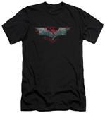 Dark Knight Rises - Split & Crack Logo (slim fit) T-Shirt