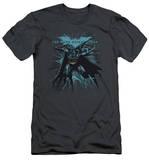 Dark Knight Rises - Blue Crackle (slim fit) T-shirts