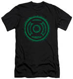 Green Lantern - Green Flame Logo (slim fit) T-shirts