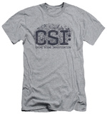 CSI - Distressed Logo (slim fit) T-shirts