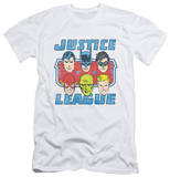 Justice League - Faces Of Justice (slim fit) T-Shirt