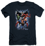 Justice League - The Coming Storm (slim fit) Shirts