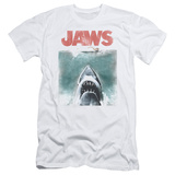 Jaws - Vintage Poster (slim fit) T-Shirt