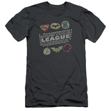 Justice League - Symbols (slim fit) Shirt