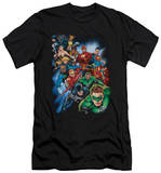Justice League - Heroes Unite (slim fit) T-shirts