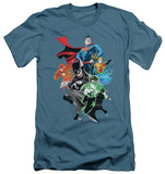 Justice League - Group Shot (slim fit) Shirts