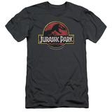 Jurassic Park - Stone Logo (slim fit) Shirts