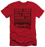 Shaun Of The Dead - List (slim fit) T-shirts