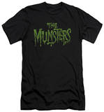 The Munsters - Distress Logo (slim fit) T-shirts