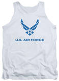 Tank Top: Air Force - Distressed Logo Tank Top
