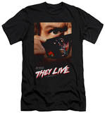 They Live - Poster (slim fit) T-Shirt