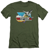 Top Gun - Distressed Logo (slim fit) T-shirts