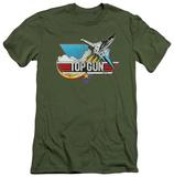 Top Gun - Distressed Logo (slim fit) Shirt
