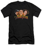 The Three Stooges - Three Head Logo (slim fit) T-Shirt