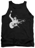 Tank Top: Elvis Presley - Black & White Guitarman Tank Top