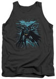 Tank Top: Dark Knight Rises - Blue Crackle Tank Top