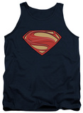 Tank Top: Man Of Steel - New Solid Shield Tank Top