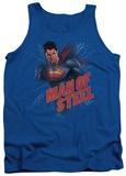 Tank Top: Man Of Steel - Lightning Power Tank Top