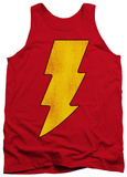 Tank Top: Shazam - Shazam Logo Distressed Tank Top