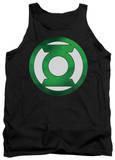 Tank Top: Green Lantern - Green Chrome Logo Tank Top