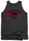 Tank Top: Man Of Steel - Red And Black Glyph Tank Top