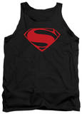 Tank Top: Man Of Steel - Red Glyph Tank Top