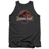 Tank Top: Jurassic Park - Stone Logo Tank Top