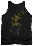 Tank Top: Johnny Bravo - Bravo Hair Tank Top