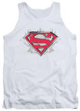 Tank Top: Superman - Hastily Drawn Shield Tank Top