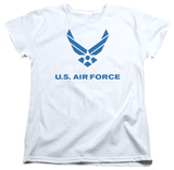 Womens: Air Force - Distressed Logo T-Shirt
