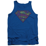 Tank Top: Superman - Tattered Shield Tank Top