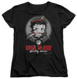 Womens: Betty Boop - Born To Ride T-shirts