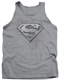 Tank Top: Superman - Riveted Metal Tank Top