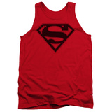 Tank Top: Superman - Red & Black Shield Tank Top