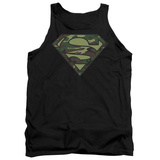 Tank Top: Superman - Camo Logo Tank Top