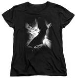 Womens: Batman Begins - BW Poster T-Shirt
