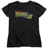 Womens: Back To The Future III - Logo Shirts