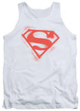 Tank Top: Superman - Spray Paint Shield Tank Top