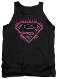 Tank Top: Superman - Fuchsia Flames T-shirts